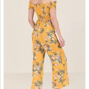 Francesca's flower jumpsuit